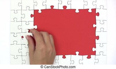 défaillance, résoudre, -, puzzle, temps