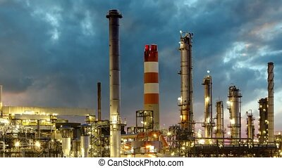 défaillance, raffinerie pétrole, temps
