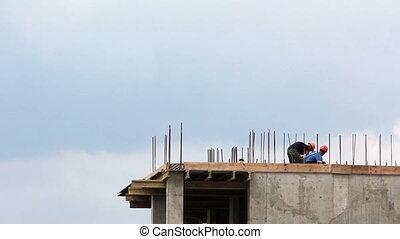 défaillance, site construction, hd, temps