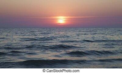 défaillance temps, coucher soleil