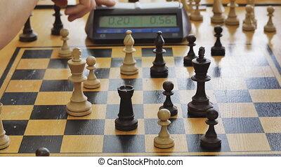 défaillance, temps, ennui, jeu, échecs