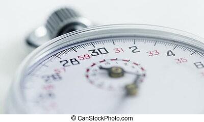 défaillance temps, haut, chronomètre, fin