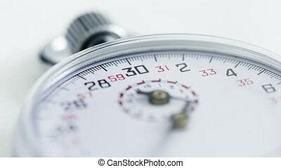 défaillance, zoom, 4k, temps, chronomètre, dehors