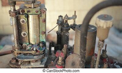 défectueux, rouillé, envoyer à la casse, vieux, mécanisme, beaucoup, usine, gears.