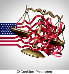 défi, américain, système légal