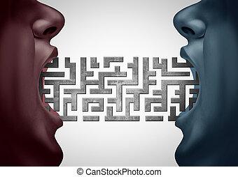 défi, communication