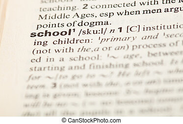 définition, école