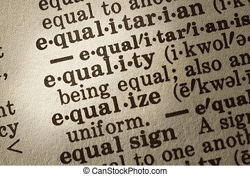 définition, égalité