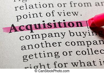 définition, acquisition
