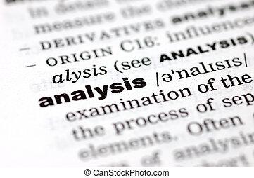 définition, analyse