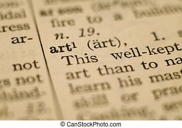 définition, art