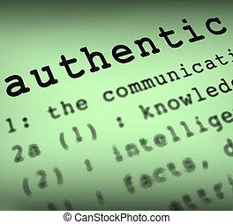 définition, authentique, projection, guaranteed, original, produits, authenticité, authentique, ou