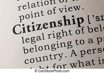 définition, citoyenneté