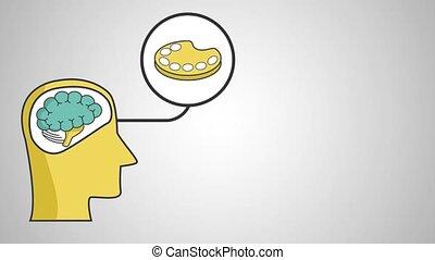 définition, concept, art, cerveau, humain, hd