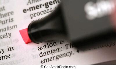 définition, de, urgence