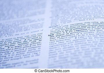définition, droit & loi, mot