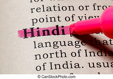 définition, hindi