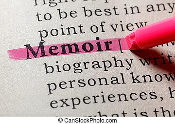 définition, mémoire