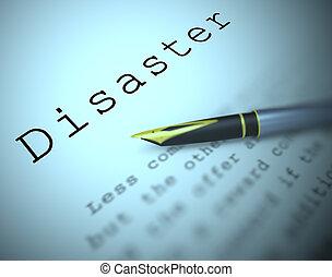 définition, malheur, désastre, moyens, -, illustration,...
