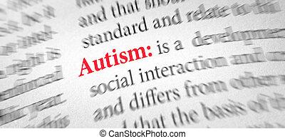 définition, mot, autism, dictionnaire