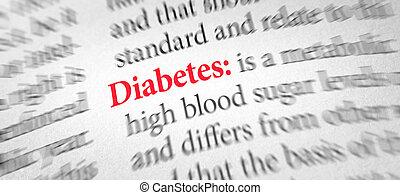 définition, mot, dictionnaire, diabète