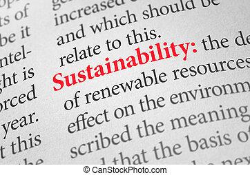 définition, mot, dictionnaire, durabilité