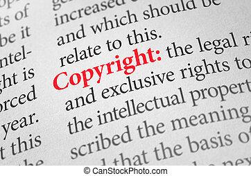 définition, mot, droit d'auteur, dictionnaire