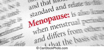 définition, mot, ménopause, dictionnaire