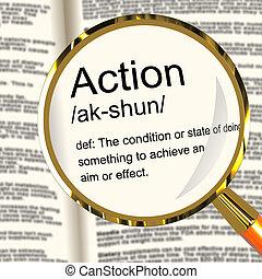 définition, projection, agir, action, loupe, ou, proactive