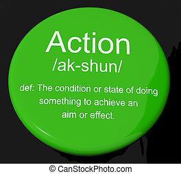 définition, projection, agir, bouton, action, ou, proactive