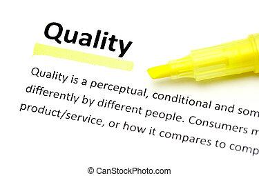 définition, qualité