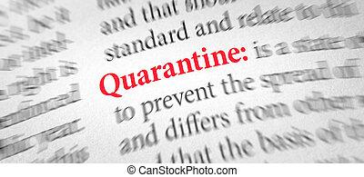 définition, quarantaine, mot, dictionnaire
