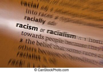 définition, -, racisme, dictionnaire