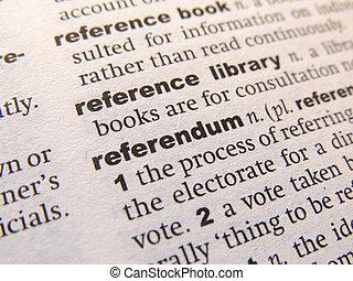 définition, referendum, dictionnaire