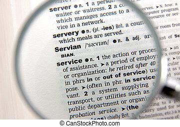 définition, service