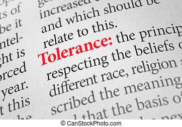 définition, tolérance, mot, dictionnaire