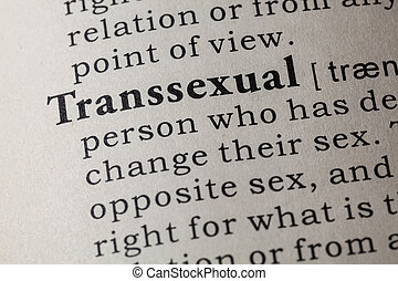 définition, transsexual