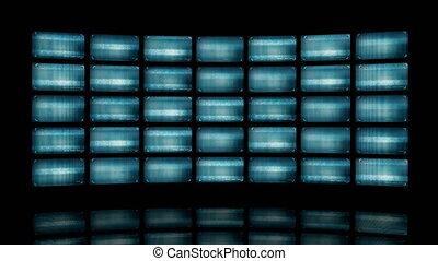 déformé, vidéo, animé, écrans, 4k, mur