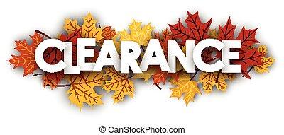 dégagement, bannière, leaves., érable