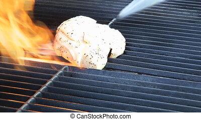 dégonfler sein, barbecue
