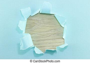 déguenillé, cadre, papier, bords