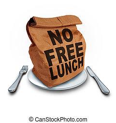 déjeuner, gratuite, non