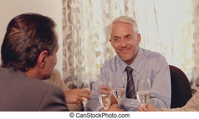 déjeuner, rencontrer, avoir, professionnels