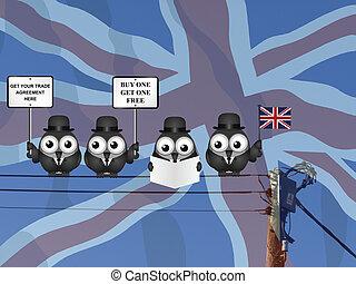 délégation, accord, royaume-uni, commercer