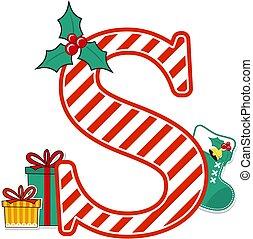 dél, karácsony, levél, abc
