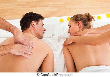 délassant, deux, masage