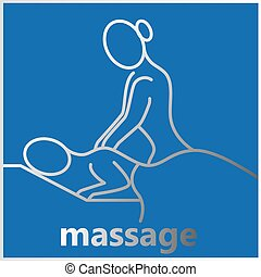 délassant, masage, raies
