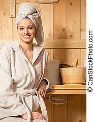 délassant, sauna