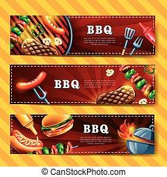 délicieux, barbecue, bannière