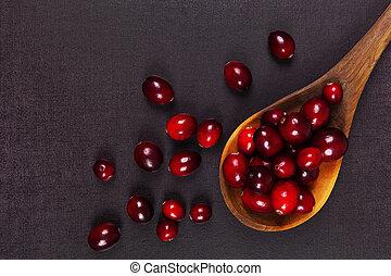 délicieux, frais, cranberries.